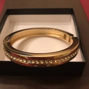 Coldwater Creek gold tone magnetic Bangle